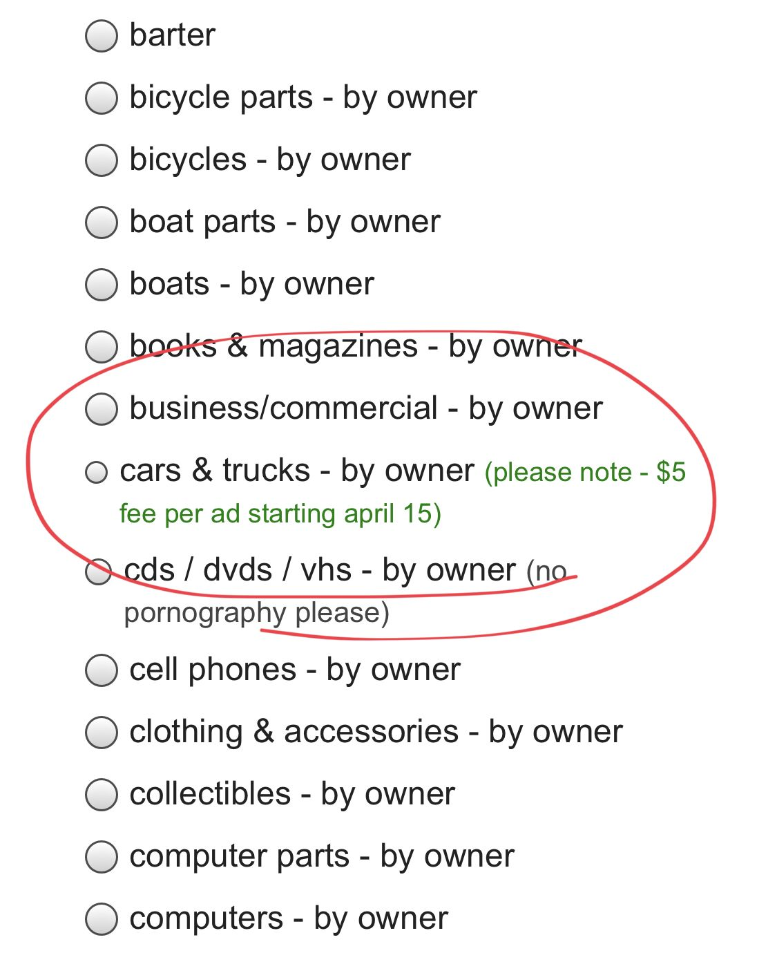 Craigslist Will Start Charging 5 To List Your Car