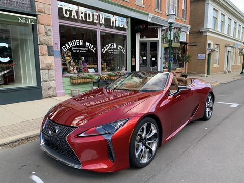 the 2021 lexus lc 500 convertible delivers a lot of emotional appeal and a fantastic v8 sound track