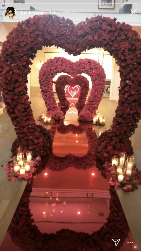 Kylie Jenner's Home is Covered in Hundreds of Roses For Valentine's Day