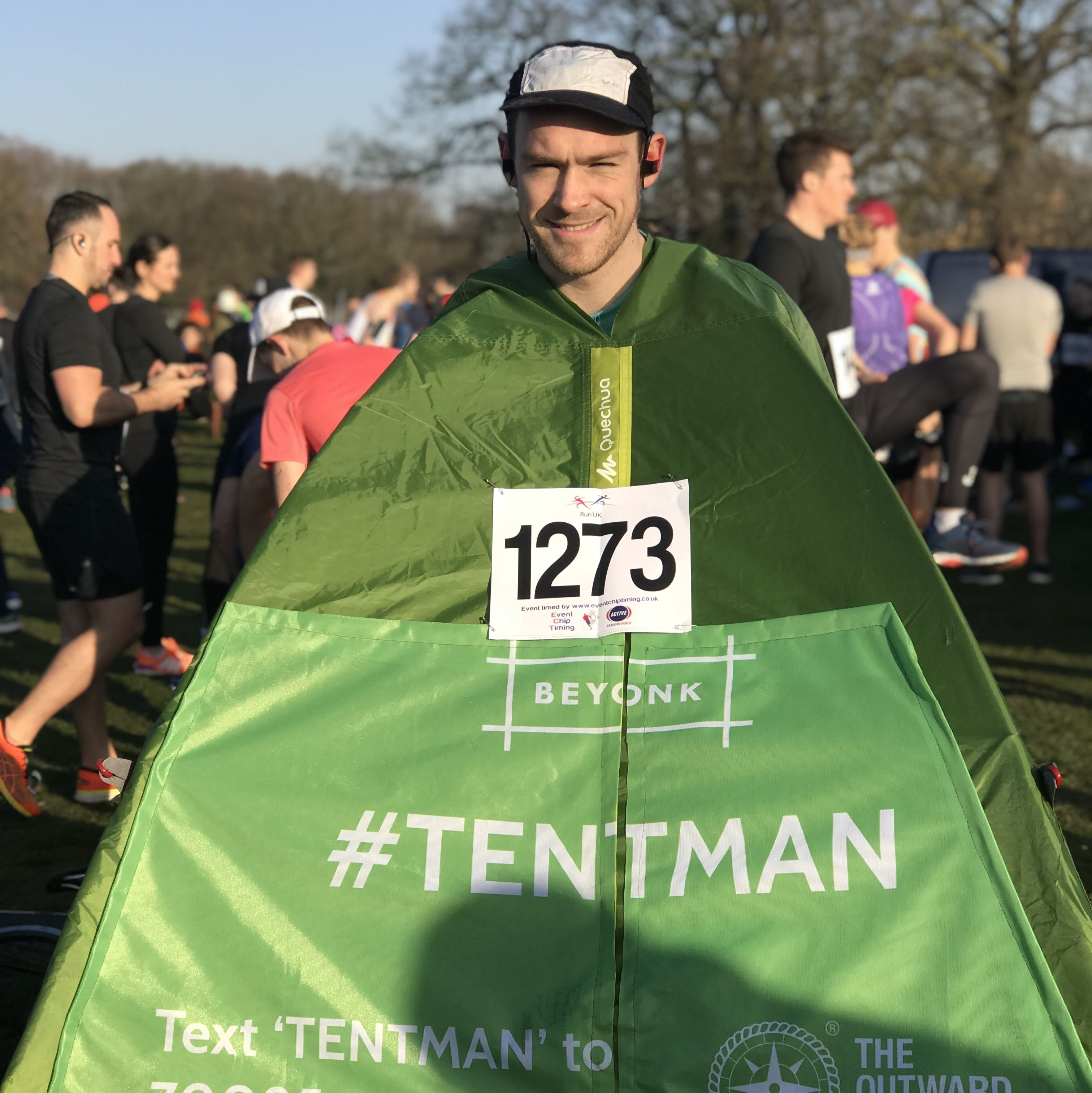 Why this man is running the London Marathon dressed as a tent