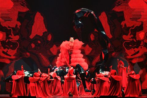 Red, Performing arts, Performance art, Spectacle, Event, Theatre, Musical theatre, Performance, Musical, Stage,