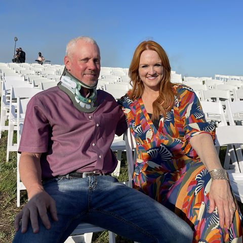 ladd drummond and ree drummond at their daughter alex's wedding rehearsal