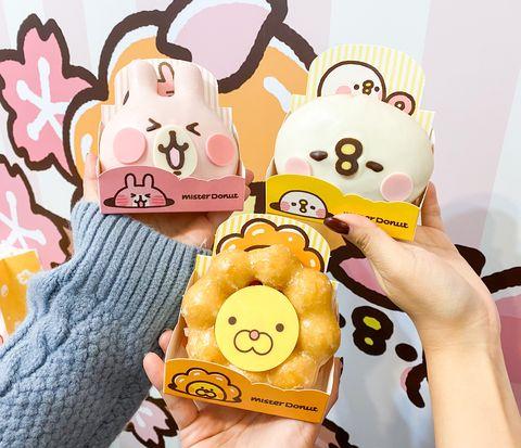 波提獅變卡娜赫拉太萌了!mister donut x卡娜赫拉小動物,櫻花季限定甜甜圈浪漫登場