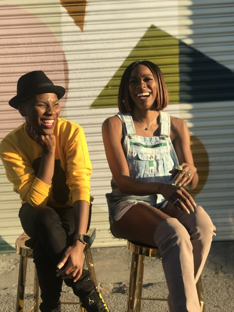 luvvie  and yvonne orji, insecure actress and one of luvvie's naija sister friends
