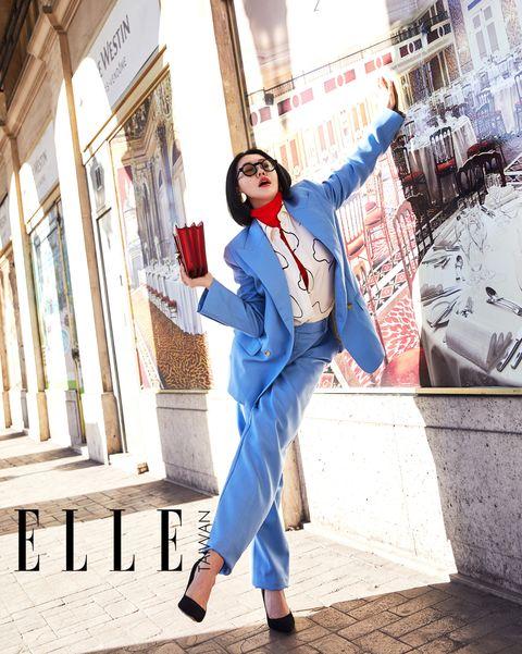 小S在巴黎,街拍,穿搭ELLE風格大使,小S,巴黎時裝週,2019春夏,巴黎街拍