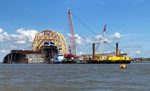 golden ray cargo ship salvage operation