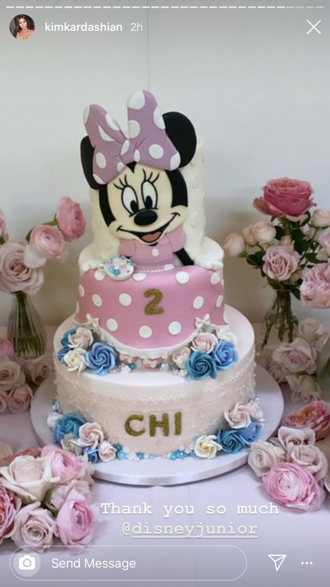 Tremendous Kim Kardashian Threw A Minnie Mouse Themed Birthday Party For Chicago Personalised Birthday Cards Petedlily Jamesorg