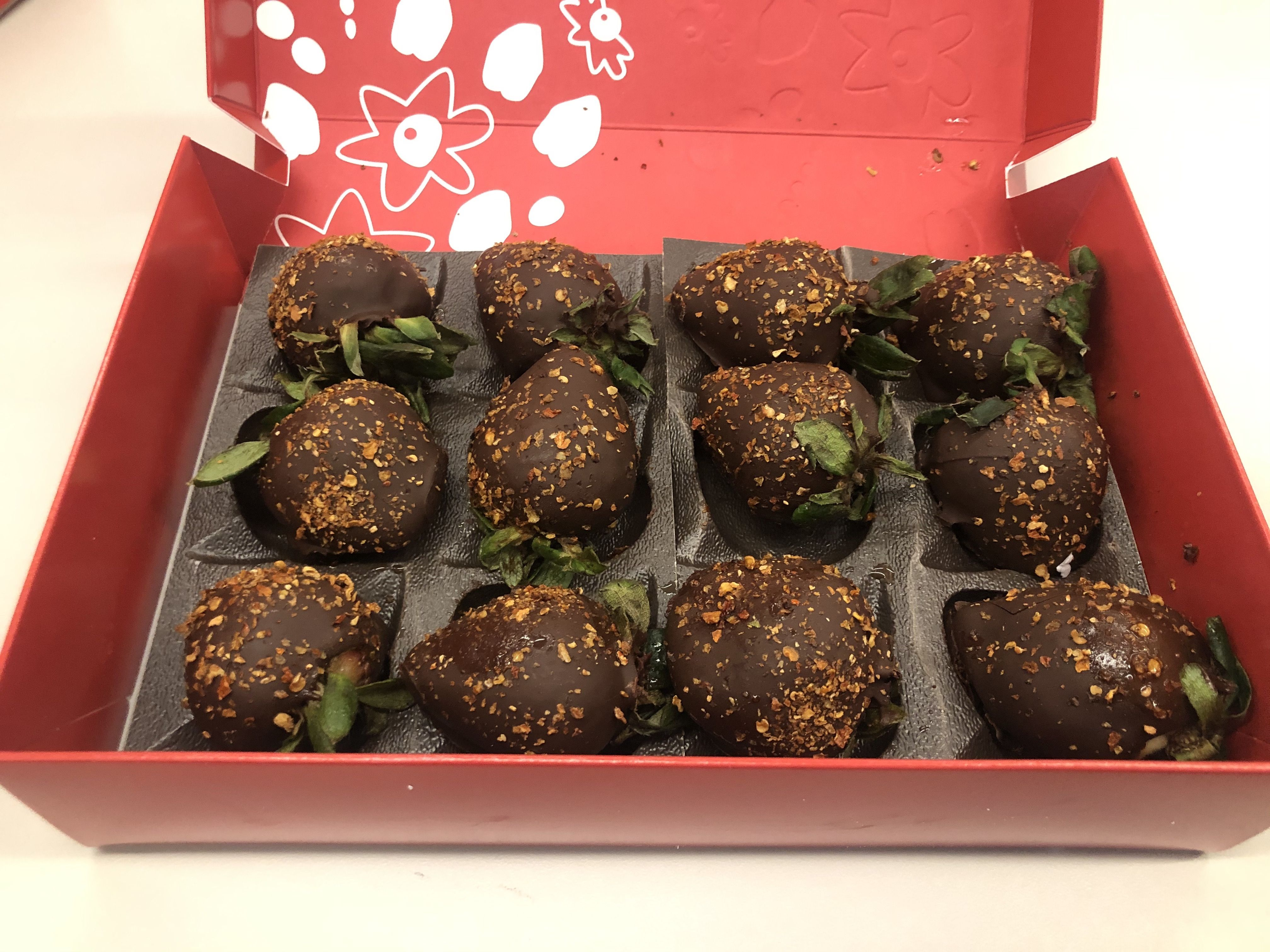 Edible Arrangements Has Chocolate Covered Strawberries Topped With Ghost Pepper Flakes