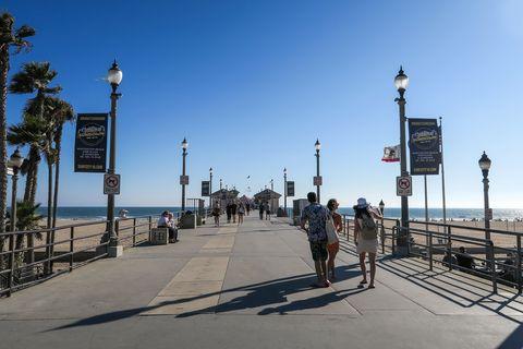 Boardwalk, Walkway, Sky, Beach, Tree, Vacation, Pier, Tourism, Ocean, Sea,