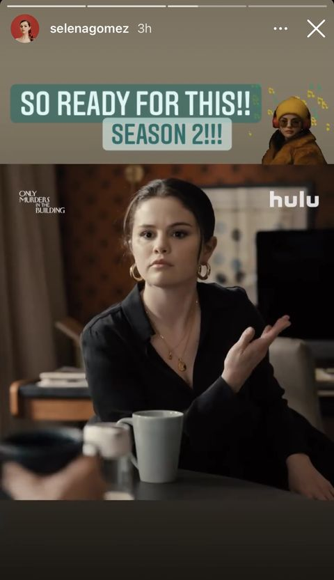 selena gomez posts on instagram about only murders in the building season 2