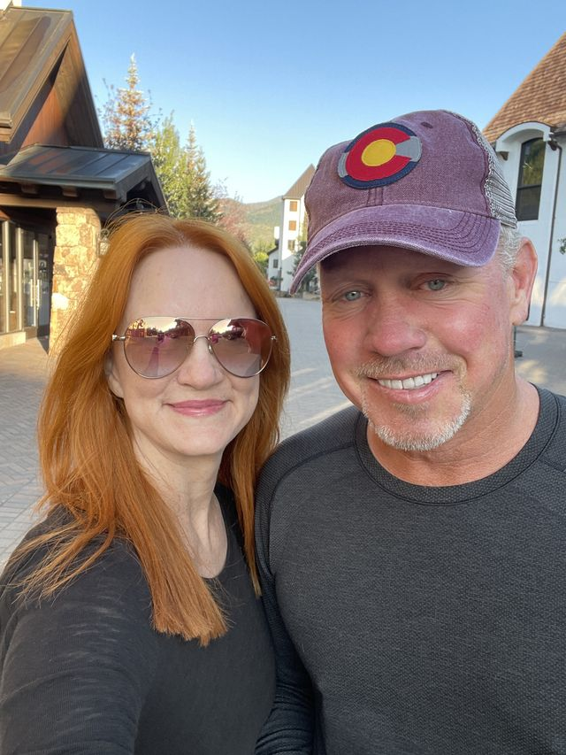ree drummond and ladd drummond in vail, colorado