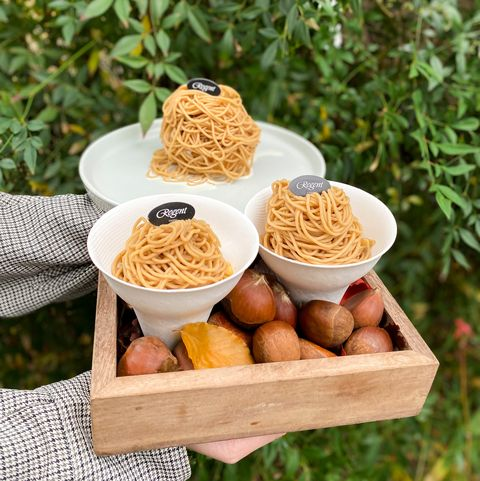 晶華酒店特製擠花機 ,打造3款超豪邁「栗子拉麵」甜點