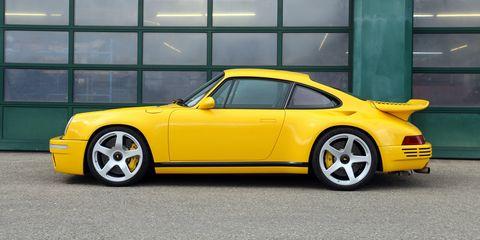 Land vehicle, Vehicle, Car, Yellow, Sports car, Ruf ctr2, Coupé, Rim, Ruf ctr, Porsche 911 classic,