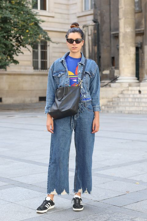 Denim, Jeans, Street fashion, Clothing, Fashion, Cool, Textile, Footwear, Snapshot, Standing,
