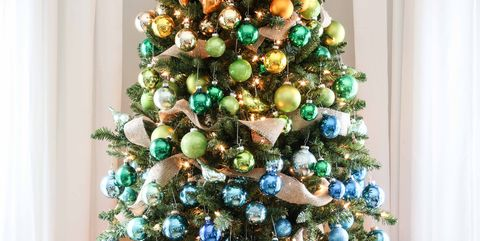 image - Christmas Tree With Lights And Decorations