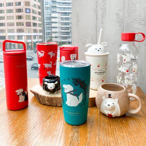 星巴克聖誕節推 貓貓狗狗系列杯款 黑貓 萌狗 綿羊一起過聖誕 還有stanley聖誕聯名系列