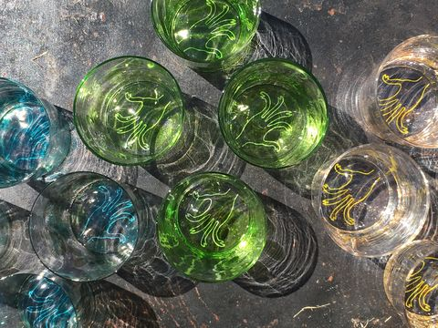 Glass, Circle, Reflection, Collection, Transparent material, Natural material, Sphere,