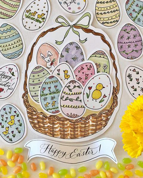 Plate, Easter egg, Plant, Easter, Dishware, Food, Tableware,