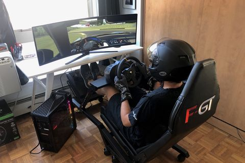 iracing racing video game rig setup best