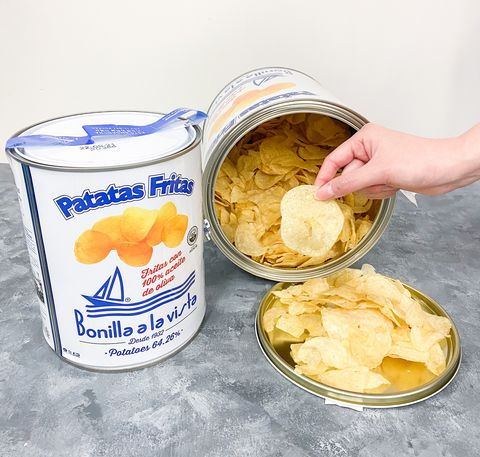 油漆桶洋芋片將登台?人手一桶西班牙bonilla a la vista減肥也能吃,低脂低鹽、橄欖油製成精品級美味