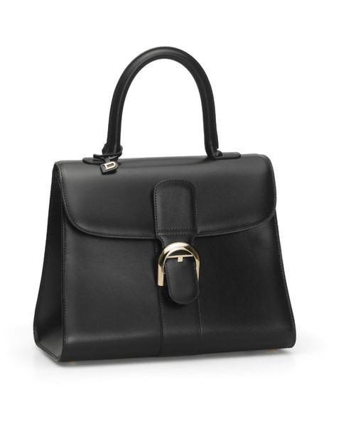 brillant 黑色牛皮中型肩揹手提包
