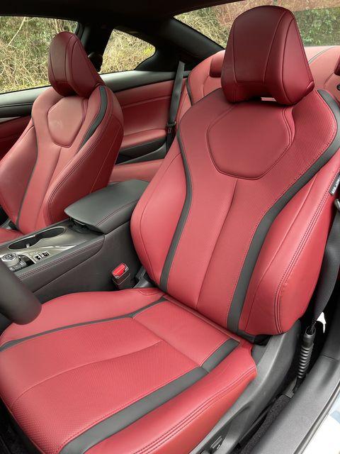 2021 infiniti q60s red sport 400 interior
