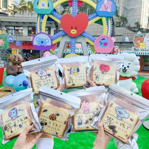 阿米們快衝!日本人氣生吐司「嵜本sakimoto bakery」聯手bt21,推7種限定包裝「極葡萄生吐司」
