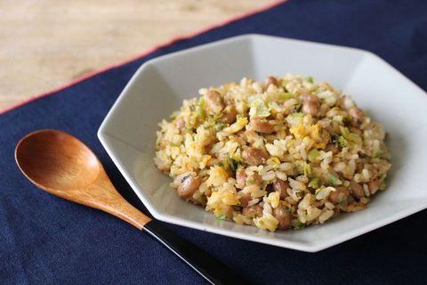 刻みネギと高菜の納豆チャーハン