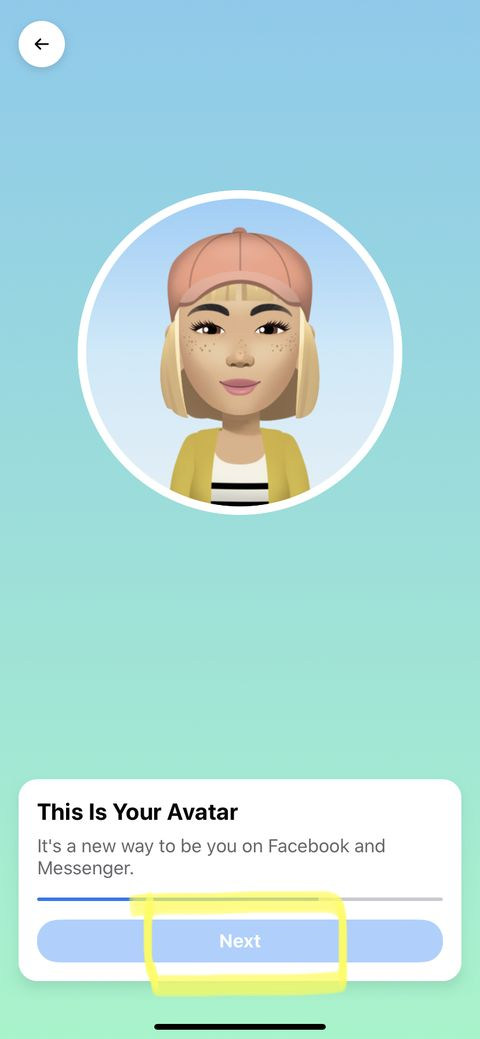 how to create your own facebook avatar step 7