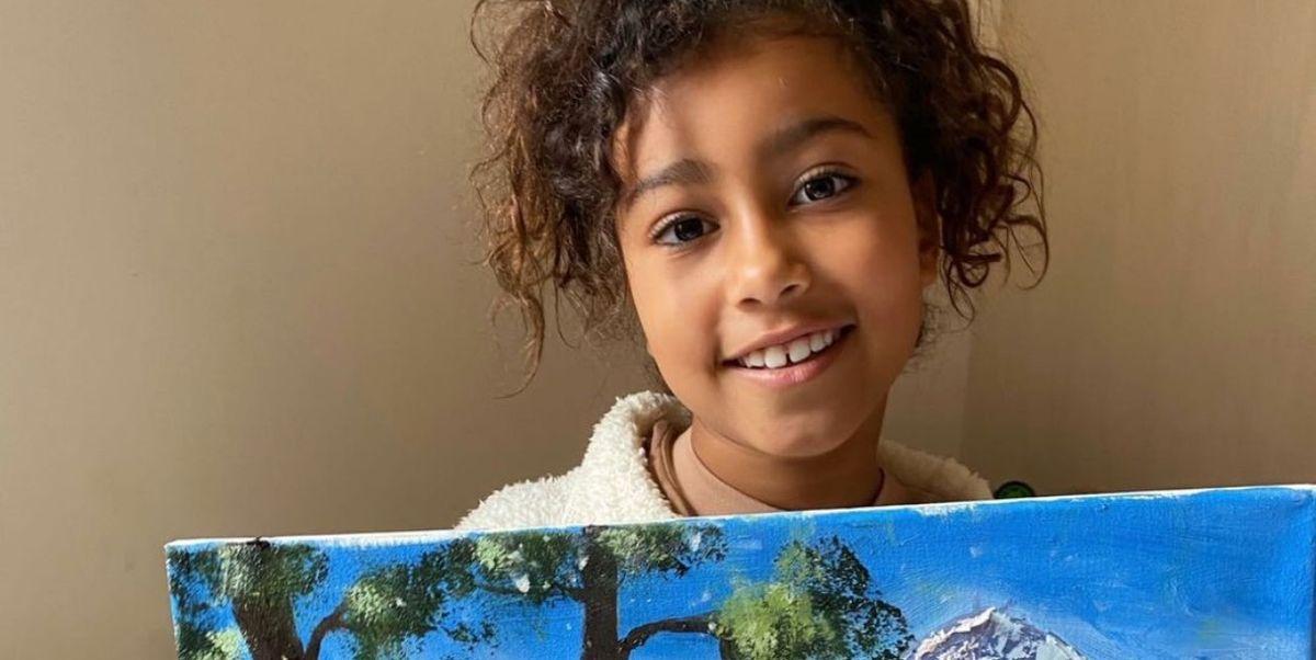 Kim Kardashian Responds to Critics Claiming North West's V Impressive Oil Painting Is Fake - Cosmopolitan.com