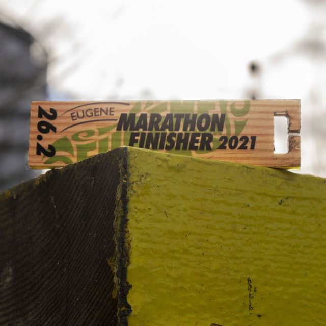 eugene marathon medal