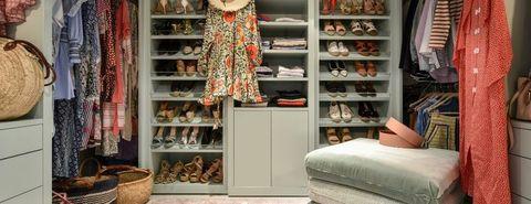 Closet, Room, Furniture, Wardrobe, Shelf, Shelving, Cupboard, Interior design, Building, Home,