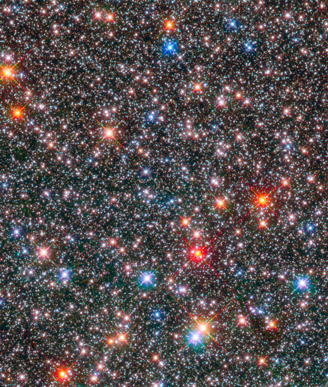 an image of stars taken by the hubble space telescope