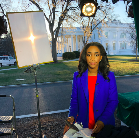 Abby Phillip reporting from outside the White House
