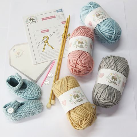 baby booties knitting kit