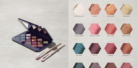 Eye shadow, Eye, Material property, Triangle, Tie,