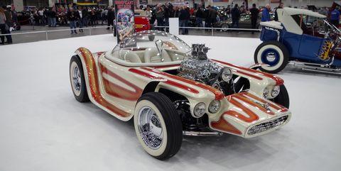 Vehicle, Car, Automotive design, Auto show, Vintage car, Antique car, Sports car, Race car, Formula libre, Automotive wheel system,