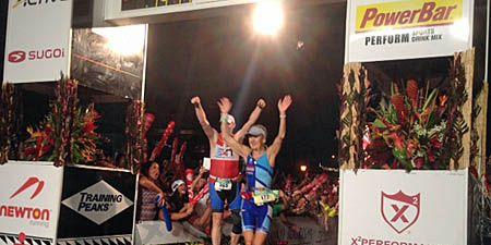 Finish line at Ironman Kona 2013