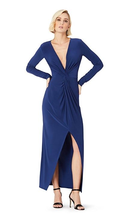 Clothing, Cobalt blue, Dress, Blue, Electric blue, Cocktail dress, Fashion model, Day dress, Formal wear, Sleeve,