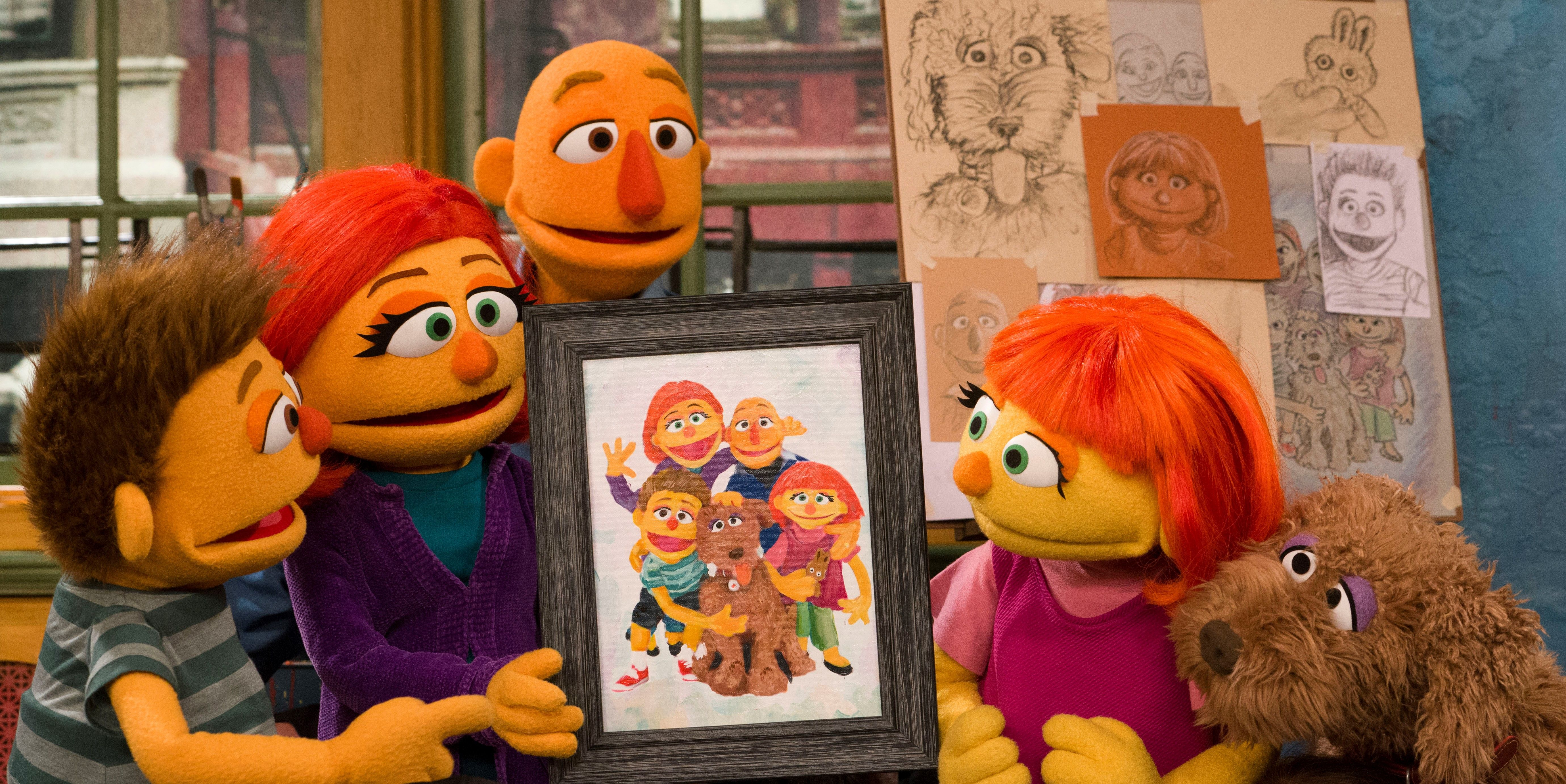 Sesame Street's Julia and Family
