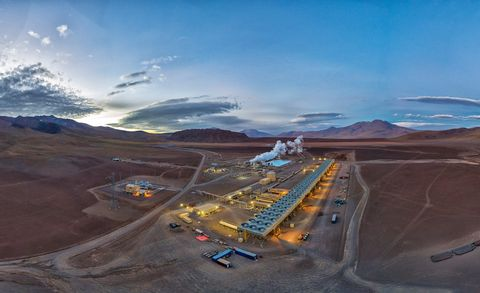 cerro pabellón geothermal plant, chile