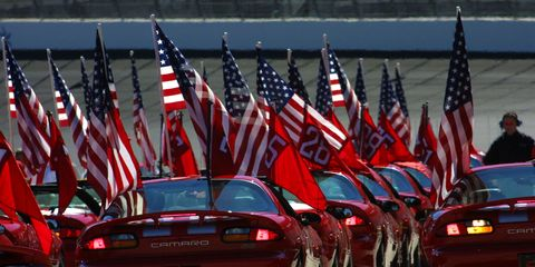 Flag of the united states, Red, Vehicle, Car, Flag Day (USA), Flag, Veterans day, Hood,