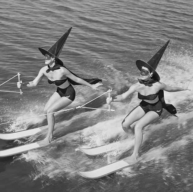 witches water skiing