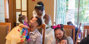 John Legend And Chrissy Teigen Visit Disneyland Resort