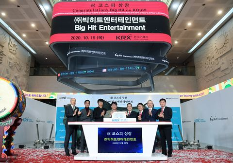 bts label 'big hit entertainment' goes public