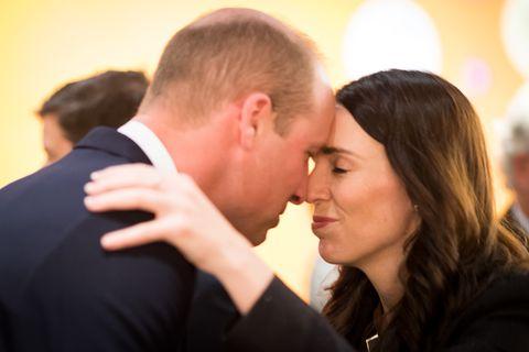 prince william hongi jacinda ardern The Duke Of Cambridge Prince William Visits New Zealand