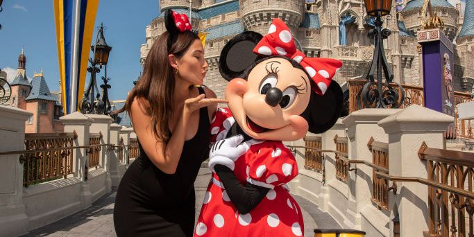 Lily Aldridge Visits Walt Disney World Resort