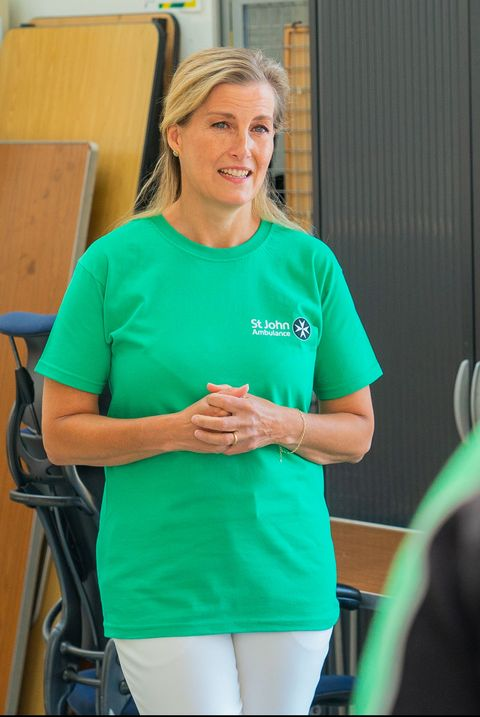 countess of wessex visits st john ambulance operational support hub in gosport