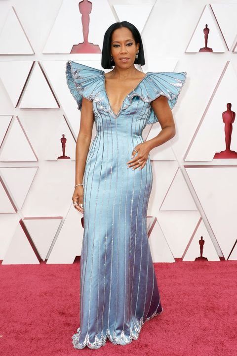 regina king at 93rd annual academy awards arrivals