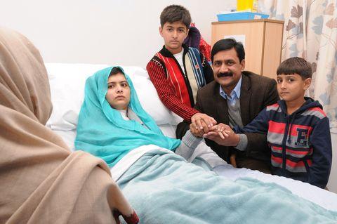 Family Of Malala Yousafzai Arrive In UK